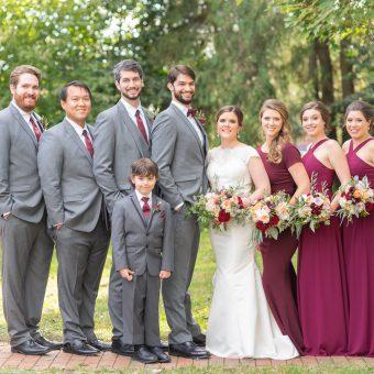 Fall-Wedding-Birkby-House-Leesburg-VA-tent-reception-burgandy-bridesmaids