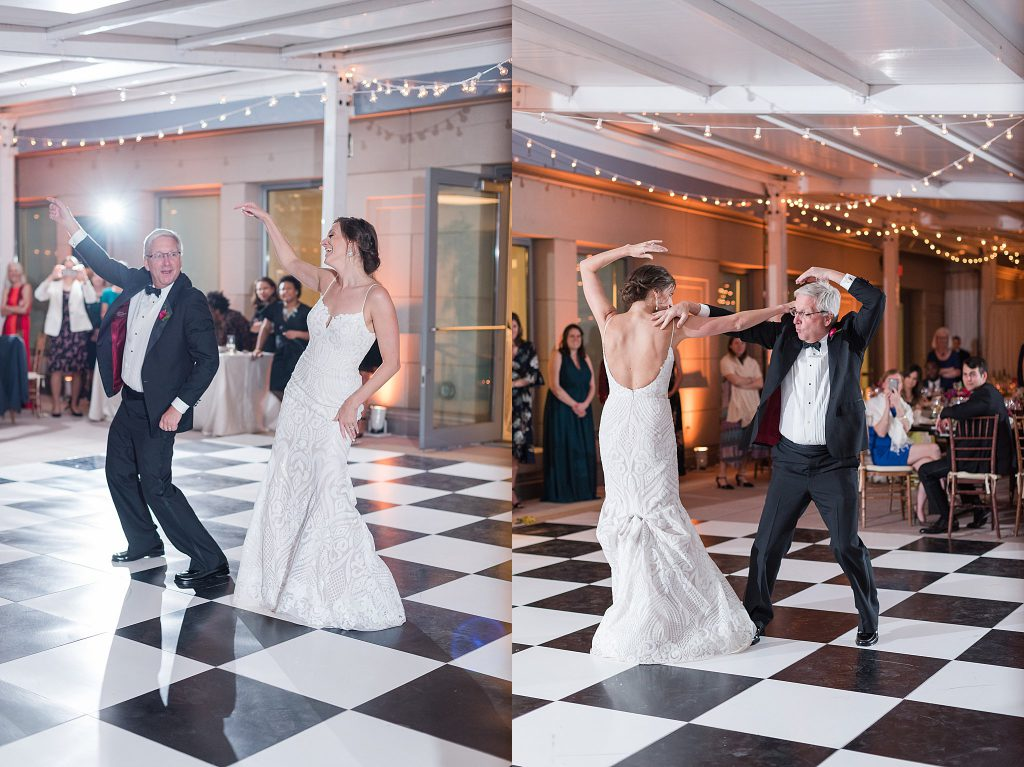 Father/Daughter Dance on rooftop terrace in Washington DC