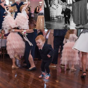 Flower girls and Ring Bearer Dancing during Reception