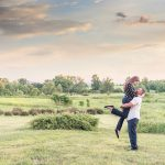 Engagement session in the Virginia Countryside amongst rolling hills of the blueridge mountains.