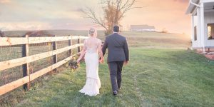 Virginia Couple's Sunset Portraits at The Barn at Willow Brook