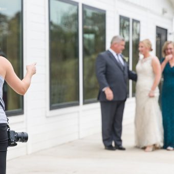 Loudoun County Wedding Photographer working behind the scenes