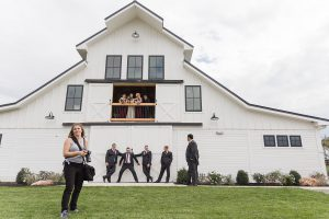 Loudoun County Photographer behind the scenes photographing bridal party at The Barn at Willow Brook