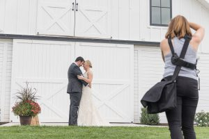 Loudoun County Photographer photographing couple at The Barn at Willow Brook