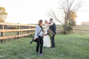 Loudoun County Photographer Sunset Portraits at The Barn at Willow Brook