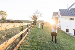 Loudoun County Photographer Sunset Portraits at The Barn at Willow Brook