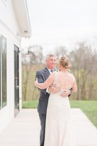 First look with Dad at The Barn at Willow Brook
