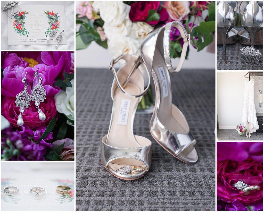 Dark Pink Dark Purple Wedding Jewelry Jimmy Choo Heels