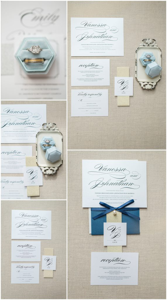Flatlays of Wedding Details