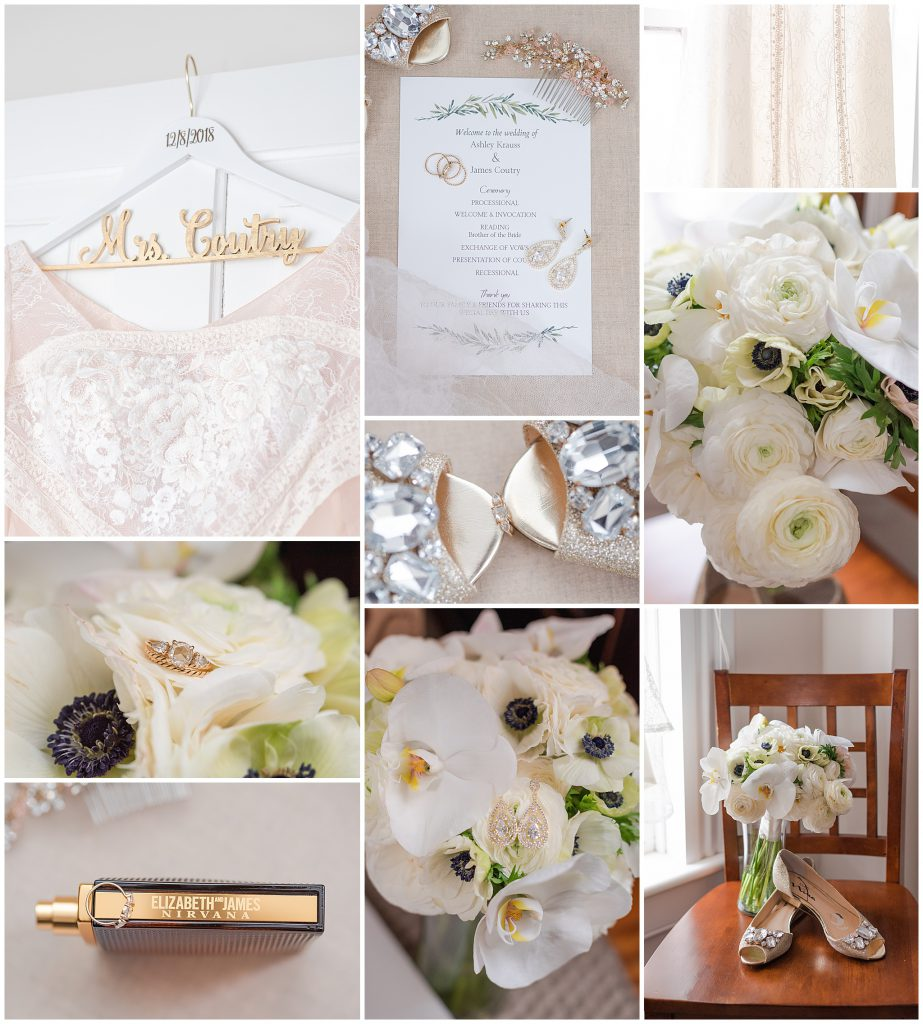 White Bridal Bouquet, Glamourous Heels, Mrs Hanger