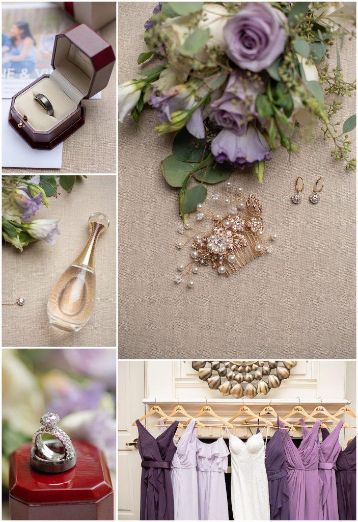 Shade of Purple Bridesmaids Dresses
